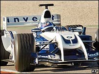 Juan Pablo Montoya in the new Williams-BMW FW26