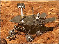 Artist's impression of the rover on Mars