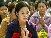 Tibetan activists on Human Rights Day