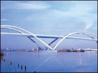 One possible design for the bridge