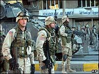 US troops in Baghdad