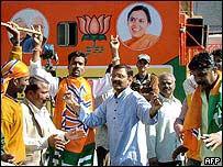 BJP supporters in Madhya Pradesh