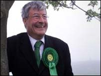 Scottish Green Party leader Robin Harper