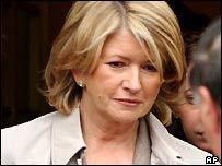 Martha Stewart after a court appearance in New York in June