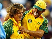 Ian Harvey and Andrew Symonds both had fine matches