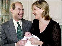 Baby Louise and parents