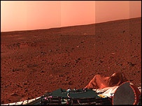 Mars, picture downloaded from US rover Spirit