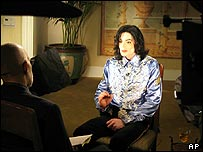 Michael Jackson giving interview to CBS on Christmas Day