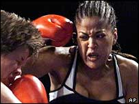 Laila Ali trades blows in the ring