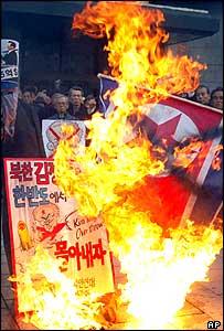 Anti-North Korean demonstration in South Korea