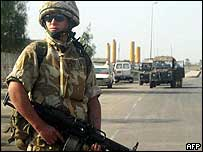 British soldier in southern Iraq