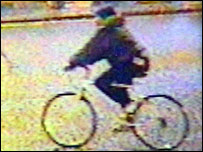 CCTV picture of cyclist