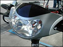 The Rad2Go Q electric scooter's headlamp