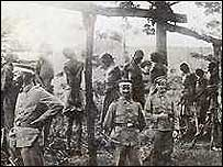 German army hanging Hereros (archive pic)