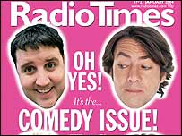 Radio Times cover with Peter Kay and Jonathan Ross