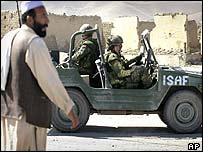 Isaf troops in Kabul
