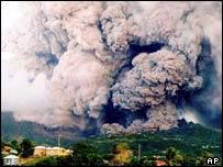 Volcano erupts in Montserrat   AP