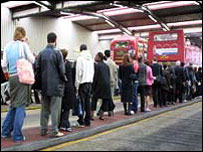 Bus queue during Tube strike