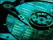 Hard drive platter, Eyewire