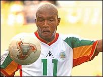 Senegal's El-Hadji Diouf in action