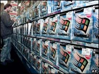 Windows 98 on sale in computer store, AP