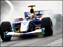 Nick Heidfeld in action for Sauber