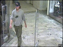 Security video footage showing the suspect