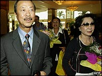 Nguyen Cao Ky and his wife in Ho Chi Minh City's Sheraton hotel