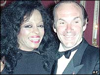 Diana Ross and Arne Naess in 1990
