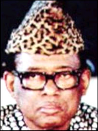 Former Zaire president Mobutu