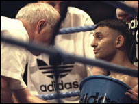 Brendan Ingle (left) with Naseem Hamed