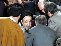 President Khatami in parliament