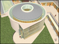 Artist's impression of the Wales Institute of Sustainable Education