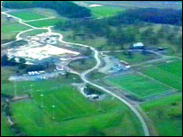 An aerial view of the planned home of the National Football Centre