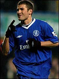 Chelsea striker Adrian Mutu