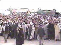 Demonstrators in Basra