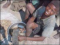 Illegal diamond miner