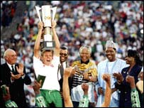 In 1996, South Africa's Neil Tovey became the first white man to lift the Cup of Nations