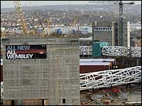 Wembley stadium construction site
