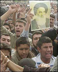Protesters in Basra