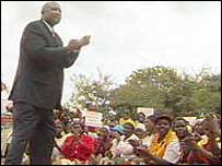 Phillip Chiyangwa at an election rally