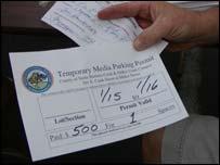 Media parking permits