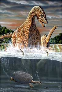 What Amazonsaurus looked like (Artwork by Pepi, Federal University in Rio de Janeiro)