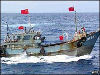 Chinese protest boat