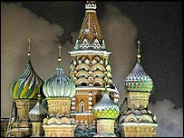 St Basil's Cathedral in Moscow is a familiar site