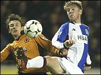 Paul Gallagher (right) in action for Blackburn