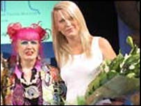 Zandra Rhodes and Ceri Evans