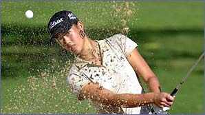Michelle Wie in action in Hawaii