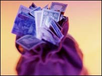 Money in a bag, BBC