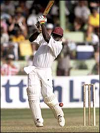 American batsman Clayton Lambert in action for the West Indies in 1998